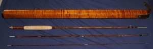 Custom Bamboo Fly Rod and Case crafted by Ken Nichols